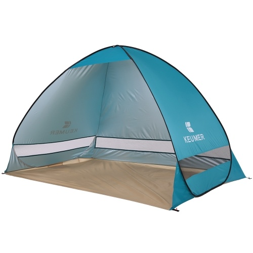 Docooler 4 Season Beach Shade Tent Sun Shelter Automatic Pop up Instant Anti UV Water-resistant Cabana with a Carry Bag
