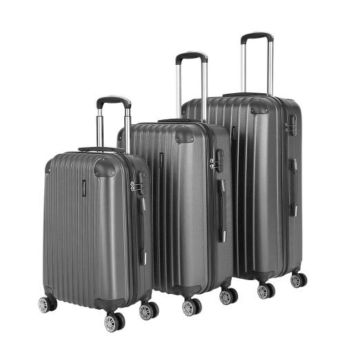 """Second Hand TOMSHOO Mode 3 STÜCKE Gepäck Set Carry-on Koffer ABS Hard Shell Trolley 20 """"+24"""" +28 """"Kombinationsschloss Universalräder"""