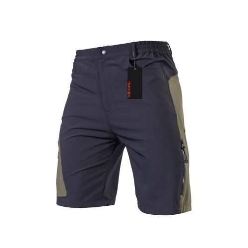 Tomshoo dos homens folgado calções de ciclismo respirável solto-fit esportes ao ar livre mtb shorts de corrida de ciclismo