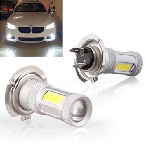 H7 80W alta potência cob LED carro nevoeiro cauda cabeça luz lâmpada de condução branco
