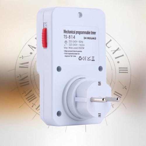 24-godzinna mechaniczna wtyczka elektryczna Programator czasowy Przełącznik zasilania Oszczędzacz energii