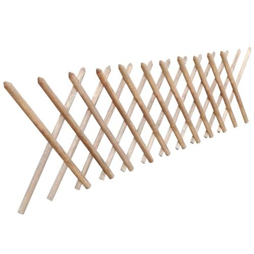 Valla enrejada expandible de madera impregnada 250 x 80 cm