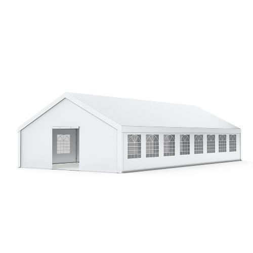 PREMIUM Partyzelt 8x16m PVC 520g/m² - 76mm Stahlrohren