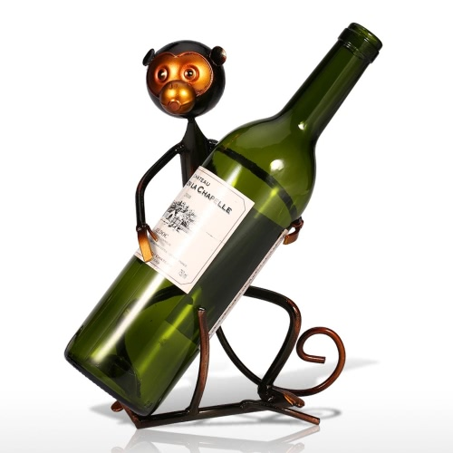 Tooarts Monkey Wine Rack Práctico Sculp Home Decor