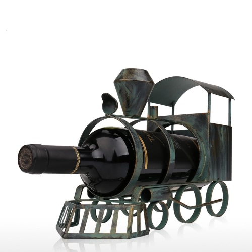 Tooarts Train Wine Rack Practical Sculp Home Decor