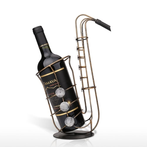 Tooarts Saxophone Wine Rack Práctico Sculp Home Decor