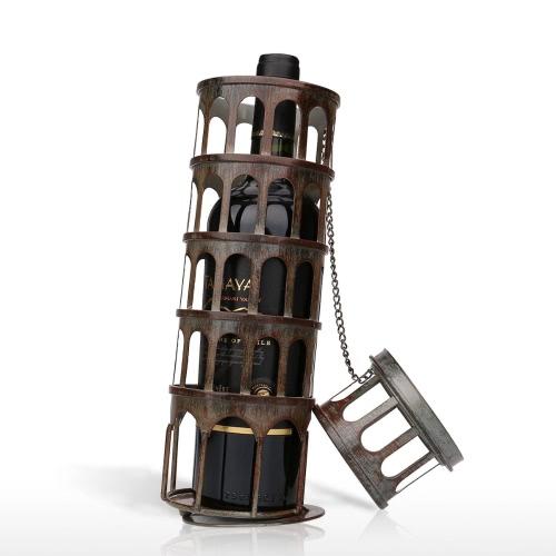 Tooarts Torre Inclinada Estante para vino Practical Sculp Home Decor