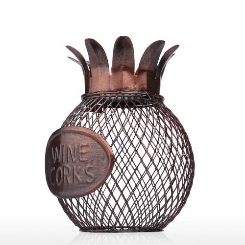 Tooarts Vin d'ananas Conteneur de liège Pratique Sculp Décor de maison