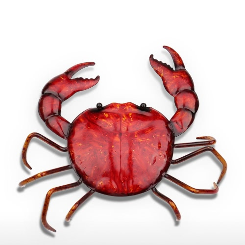 Tooarts Crab Ornament Life like Animal Sculp Iron Sculpture Home Decor