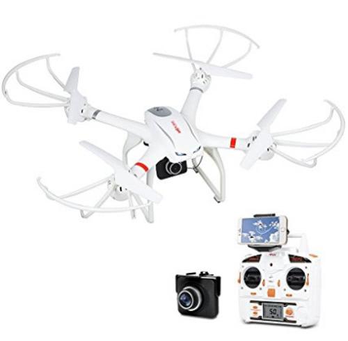 DBPOWER MJX X101C FPV WIFI Drone avec caméra HD Mode tête sans tête Quadcoper vidéo compatible avec GoPro et VR Headset