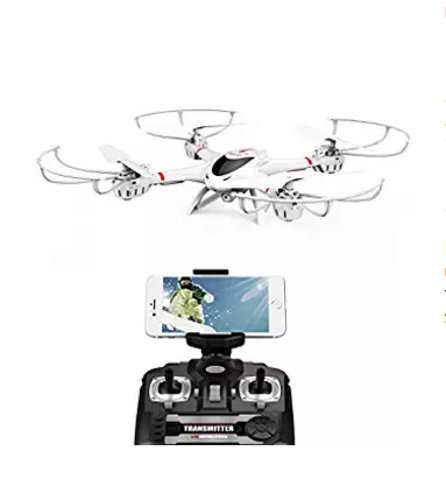 DBPOWER MJX X400W FPV Drone с Wi-Fi-камерой Live Video Безголовый режим 2.4GHz 4 Chanel 6 Axis Gyro RTF RC Quadcopter, совместимый с 3D-гарнитурой VR