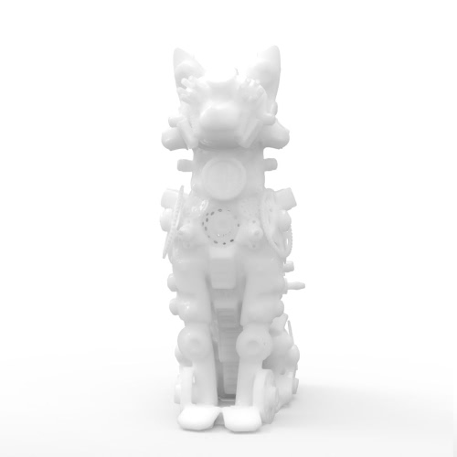 Tomfeel Mechanic Cat Abstract 3D Imprimé Sculpture Design d'origine