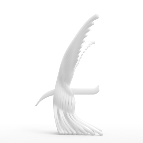 Tomfeel Abstract Eagle 3D Printed Sculpture Original Design