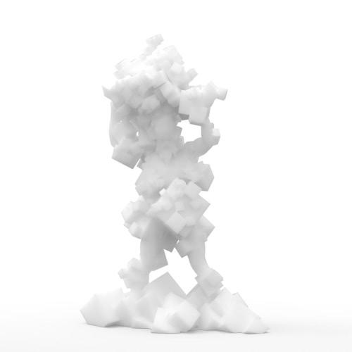 Tomfeel Chaos Cube 3D Escultura Impresa Diseño Original