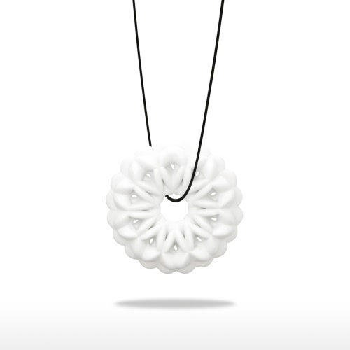 Snowflake Pendant Tomfeel 3D Printed Jewelry Original Design Unique Model
