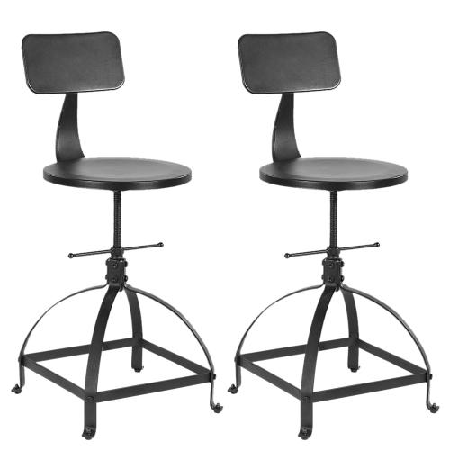 Lot de 2 chaises de bar de style industriel - IKAYAA