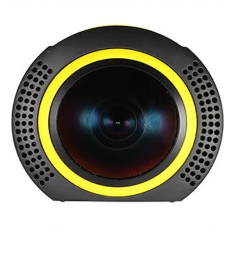 Detu 360 градусов Панорамная камера Wifi 1080P 30FPS 8MP Fisheye Film Source для виртуальных очков VR Action Sports Outdoor Activities Камера Видеокамера Автомобильный видеорегистратор