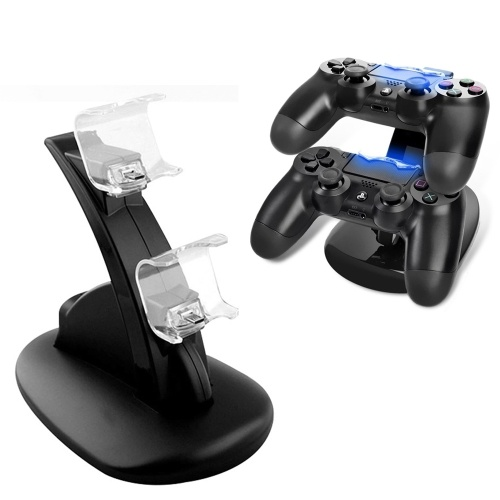 ABS Dual USB Dock Station Stand per PlayStation 4 Black