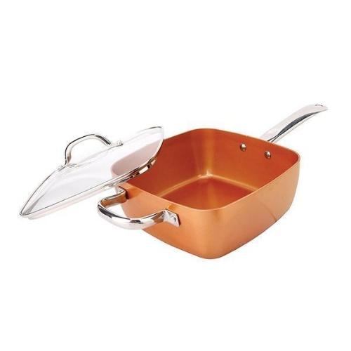 Aluminium Square Cookware Copper Pan Set