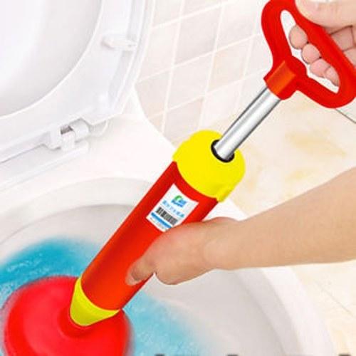 Мощный ручной дренаж Buster Плунжер Туалетная канализационная система Dredge Inflator Red Hot