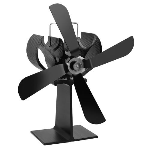 Distribuição de calor eficiente do ventilador da chaminé da casa de 4 lâminas