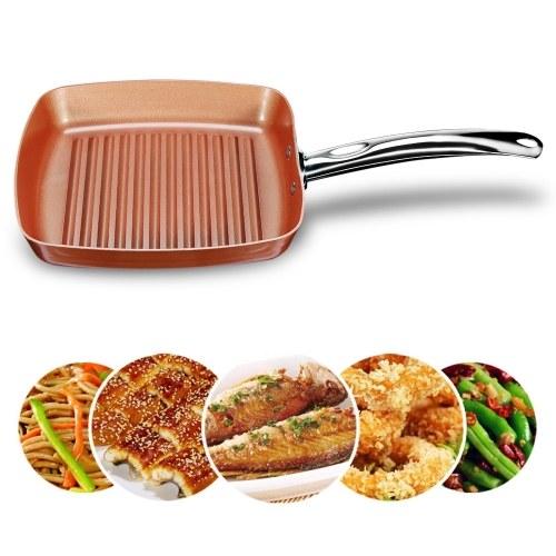 Кастрюля квадратная медная обжарка жарочная посуда (18,5 * 10,2 * 2,36 дюйма)