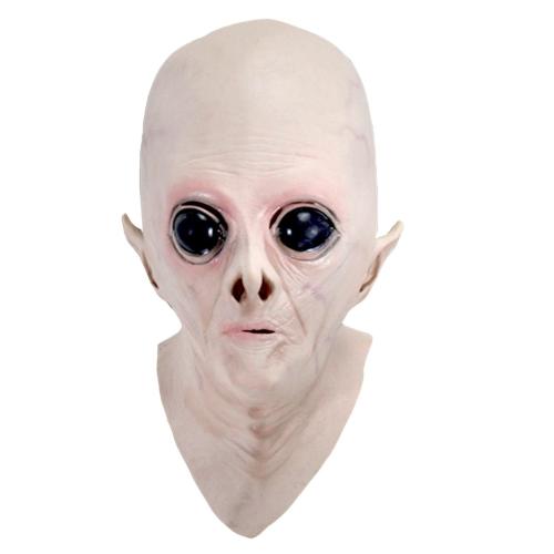 Realistic UFO Alien Mask Decoração de Halloween