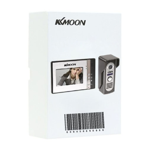KKmoon 7 Inch Video Door Phone Doorbell Intercom Kit 1-camera 2-monitor Night Vision