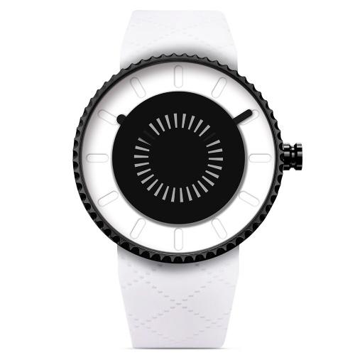 SINOBI 9742 Prosty męski zegarek silikonowy Pasek Zegarek kwarcowy