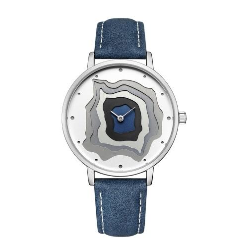 CADISEN C2030 Simples Mulheres Relógio Pulseira De Couro PU Movimento De Quartzo Relógio Relógio De Pulso À Prova D 'Água Casual Relógio Feminino