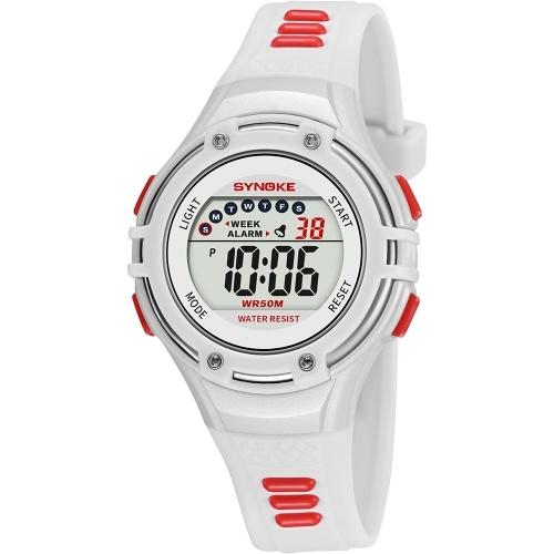SYNOKE 9728子供時計スポーツ腕時計ルミナスアラームデジタル防水腕時計の子供時計