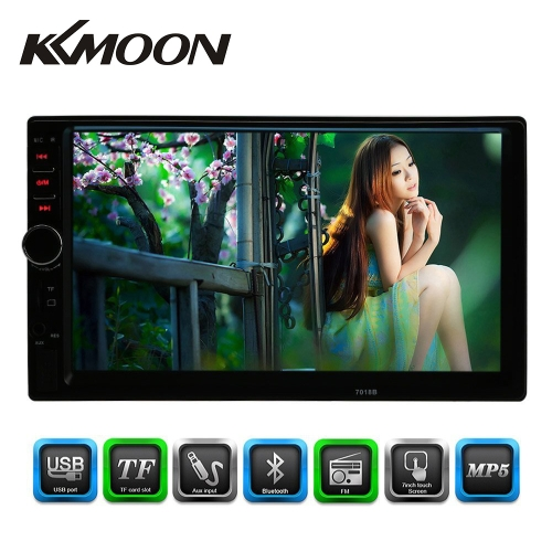 KKmoon 7 polegadas Universal 2 Din Bluetooth Car Radio MP5 Player