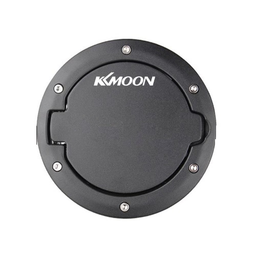 KKmoon Black Fuel Filler Door Cover Gas Tank Cap 4-Door 2-Door for 2007-2016 Jeep Wrangler JK & Unlimited