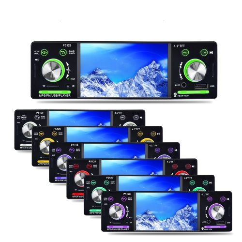 4.1 calowy 1 Din HD BT Radio samochodowe Stereo Auto MP3 MP5 Audio Player
