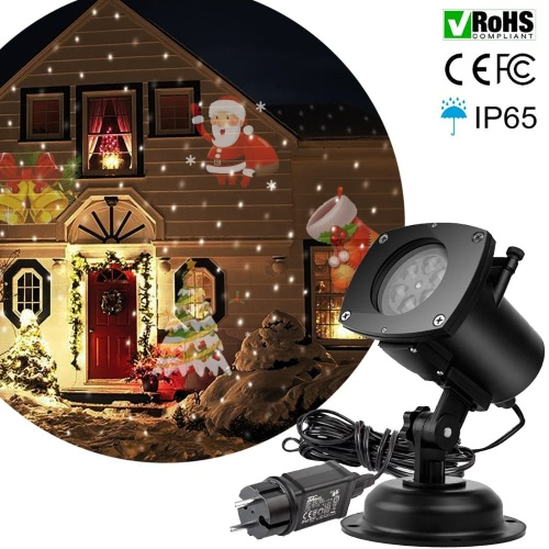 Tomshine Christmas Pumpkin/Ghost/Heart/Snowflake  Rotating LED Projection Light