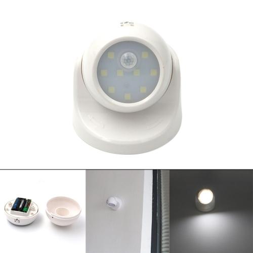 9LEDs PIR Infrared Motion Sensor Rotatable Night Light