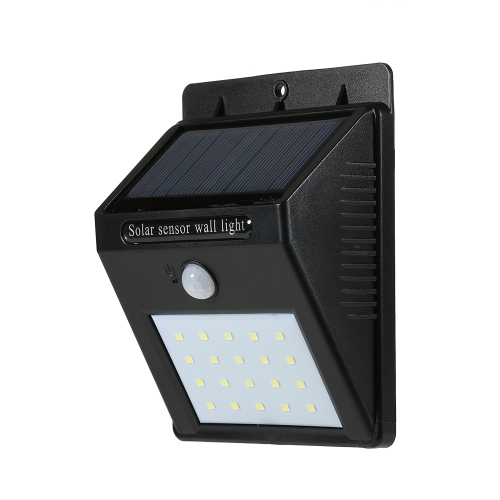 20LEDs Solar-powered Rechargeable PIR Motion Activated Wall Light