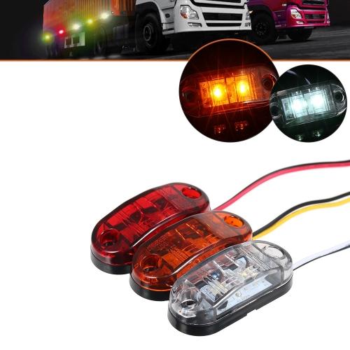 2 LED Lámpara de luz indicadora lateral del marcador de luz para el coche