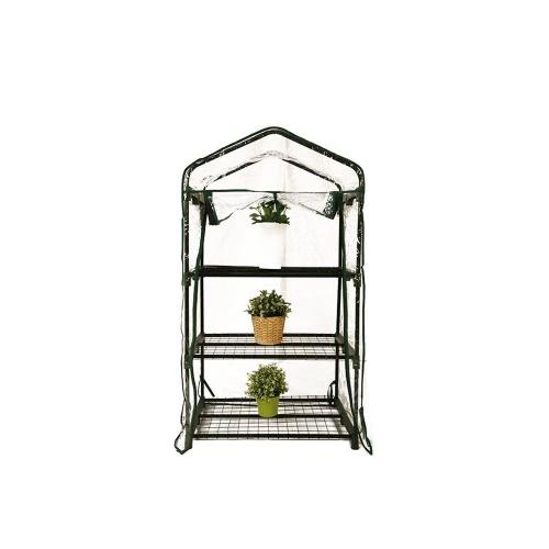 Mini Serre de Jardin Botanique 3 étagères 69*49*125 cm