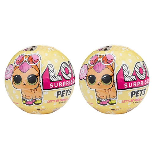 2Pcs Lol Egg Doll Toy Mystery Baby Домашние животные