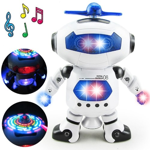 Electronic Music Dazzling Light Dancing Rotating Robot Children Toy Birthday Gift