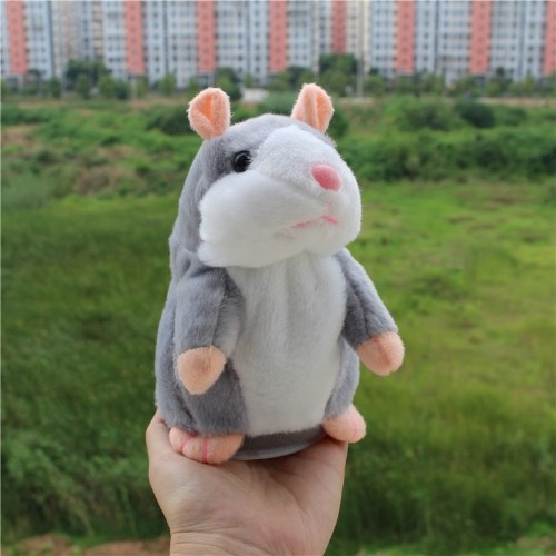 Electric Smart Little Talking Hamster Record Repeat Stuffed Plush Animal Kids Doll 15Cm