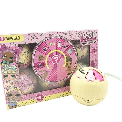 6Pcs LOL Surprise! Confetti Pop Series 3 Doll 9Cm