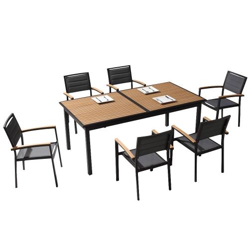 Ensemble table et fauteuils de jardin DOLCEZA - Noir
