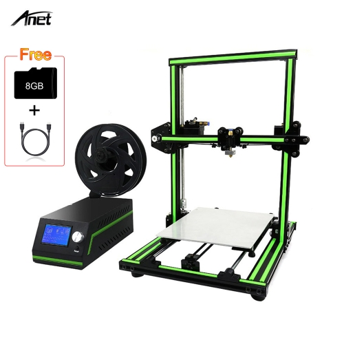 Anet E10 Kit de DIY da impressora 3D Super Building Volume 220 * 270 * 300mm com cartão de 8GB TF