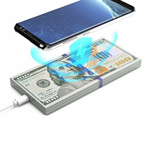 AW01 Qi Wireless Fast Charger Dollars Money Shape Desktop