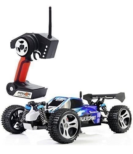 Wltoys A959 1/18 1:18 Scale 2.4G 4WD RTR Off-Road Buggy RC Car - Blue