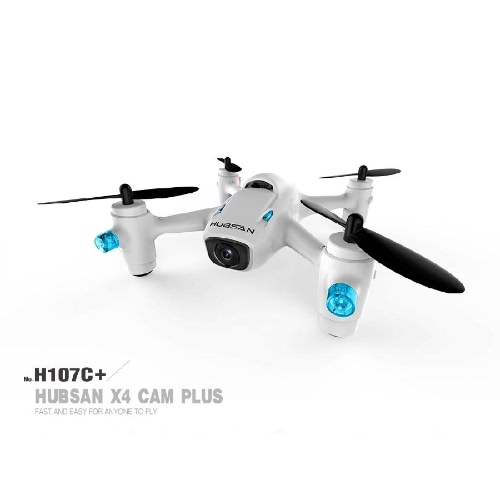 Original Hubsan H107C+ 2.4GHz 4CH 6-axis Gyro RC Quadcopter RTF Drone with 720P HD Camera