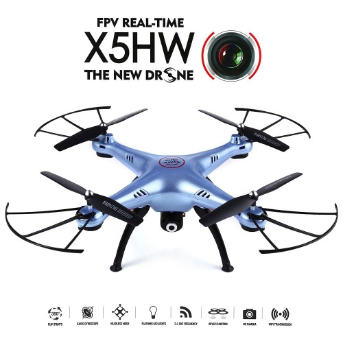 SYMA X5HW Wifi FPV Drone RC Quadcopter - Blue