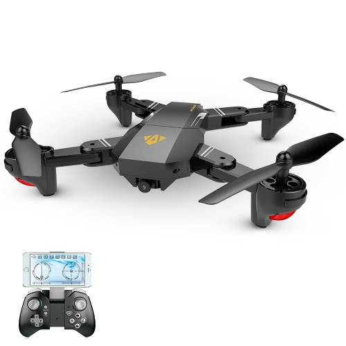 VISUO XS809W Wifi FPV 0.3MP Camera Foldable 2.4G 6-Axis Gyro Selfie Drone RC Quadcopter G-Sensor RTF